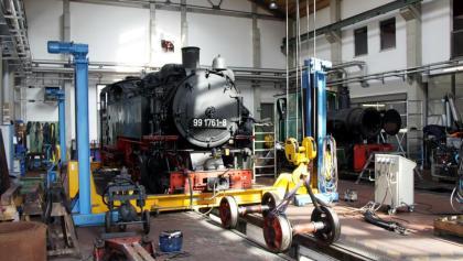 Lokschuppen der Fichtelbergbahn