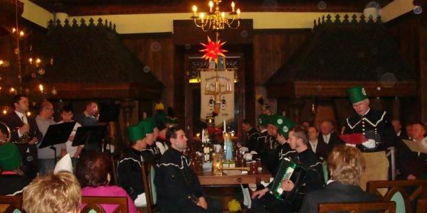 Mettenschicht im Rittersaal Schloss Schlettau