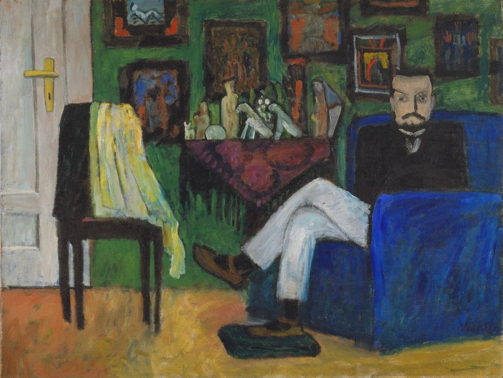Gabriele Münter, Mann im Sessel (Paul Klee), 1913 Öl auf Leinwand, 95 x 125,5 cm (VG Bild Kunst Bonn 2017, Foto: Blauel Gnamm - ARTOTHEK)