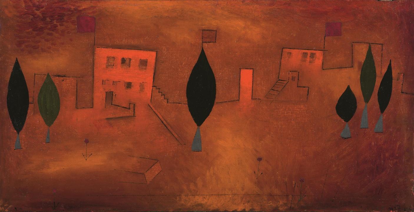 Paul Klee, Orient-Fest, 1927 Öl auf Leinwand, 30 x 58,5 cm (Christoph Münstermann)