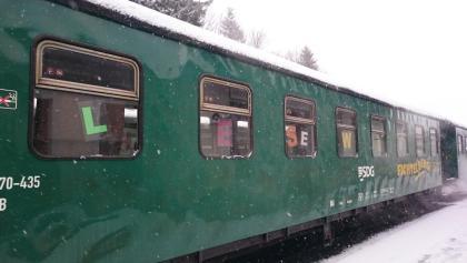 Buchvorstellung in der Fichtelbergbahn