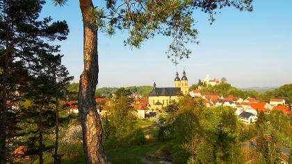 Blick auf die Basilika Gößweinstein