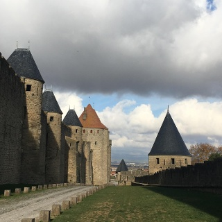 Carcassone's medieval city walls