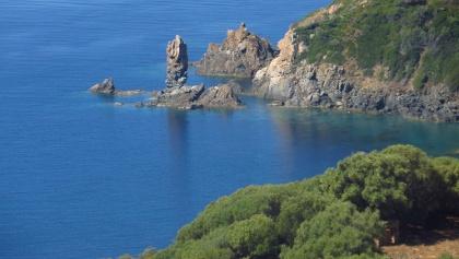 Blick auf Klippen auf Korsika