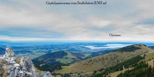 Gipfelpanorama vom Staffelstein (1.521 m) in der Chiemgauer Alpen