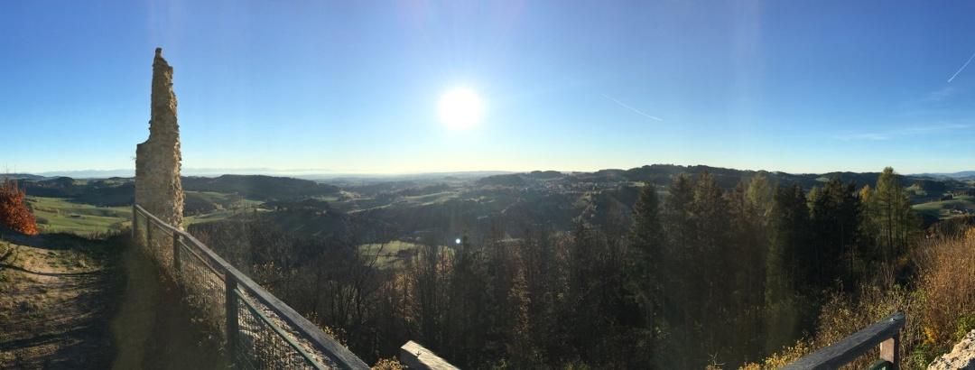 Aussicht von Ruine Waxenberg