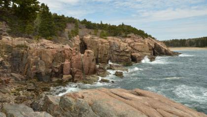 Felsklippen im Acadia Nationalpark