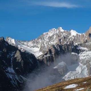 Noch einmal der beeindruckende Blick zum Breithorn