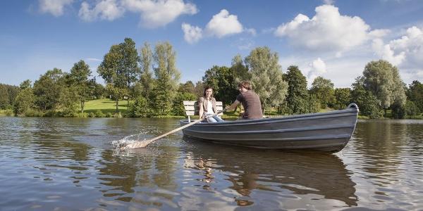 Bootsfahrt auf dem Stausee Kell