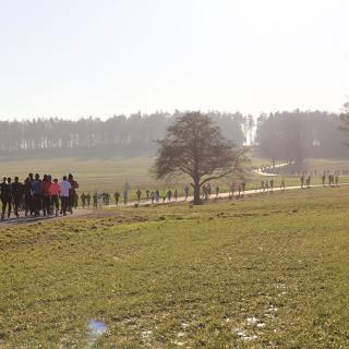 Streckenfoto vom Oberlichtenauer Silvesterlauf 2016 (Beachte: andere Streckenführung)