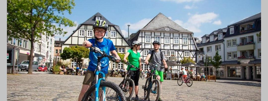 Radtour vorbei am Fachwerk Brilon