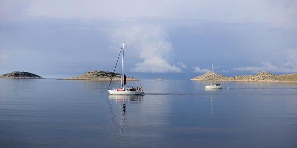 Kornati archipel seen from afar