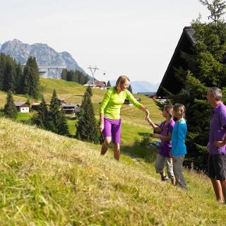 Wandern am Golm auch ideal für Familien