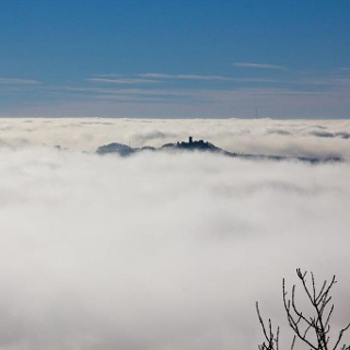 Nürburg im Nebel