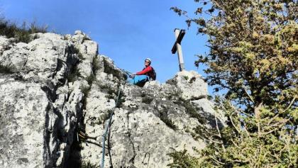 Standplatz am Gipfel des Stuhlfels