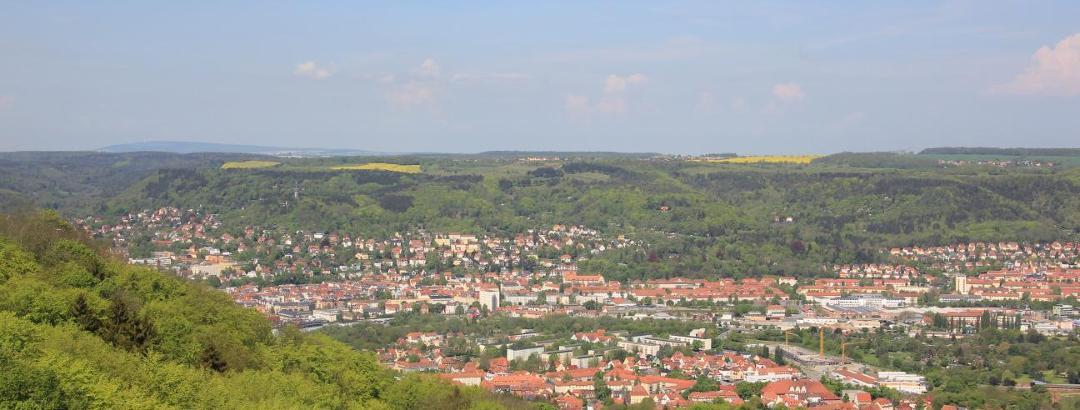 Blick ins Saaletal bei Jena