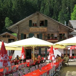 Restaurant Pochtenfall im Suldtal.