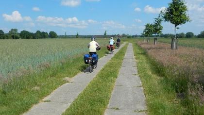 Einer der vielen verschiedenen Radwege