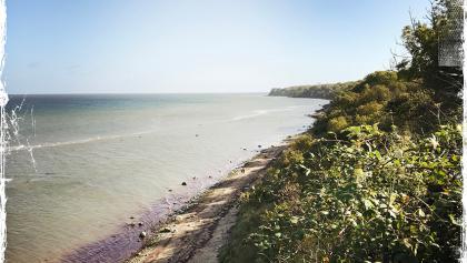 Naturnahe Steilküste bei Brook