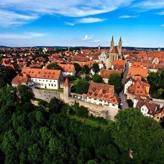 Blick auf die historische Altstadt - Rothenburg