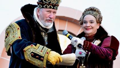 Kurfürstenpaar auf Schloss Augustusburg