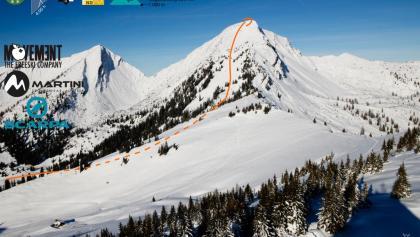 Skitour auf das Sonntagshorn: Übersichtsbild - Topo