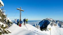 Feichteck (1.514 m) - schöner Gipfelhang im Chiemgau