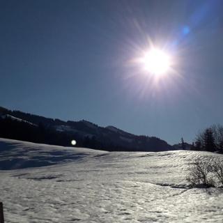 Winterlandschaft am Sonthofer Hof