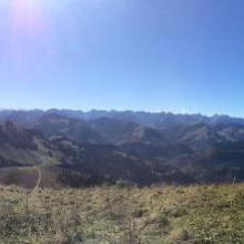 Blick vom Gipfel des Juifen