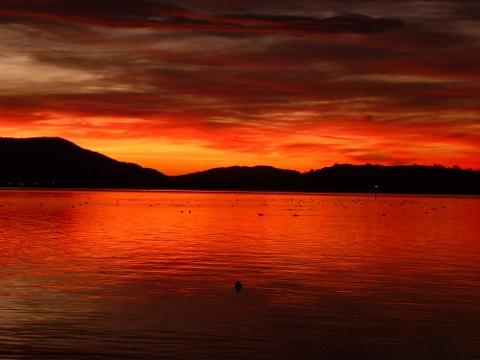 Sonnenuntergang über dem Untersee am 22.12.2014