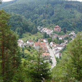 Blick von der oberen Weihersbergaussicht auf Elmstein