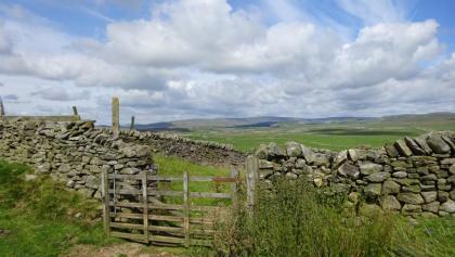 Walking through countryside gates
