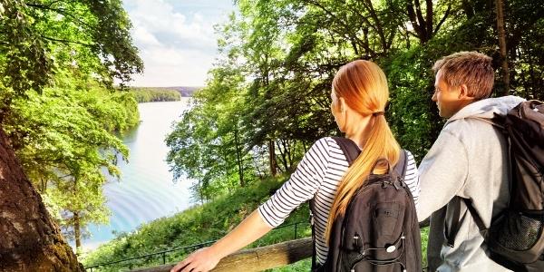 Blick auf die Feldberger Seenlandschaft