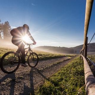 Morgenstimmung auf dem Bike-Crossing Schwäbische Alb