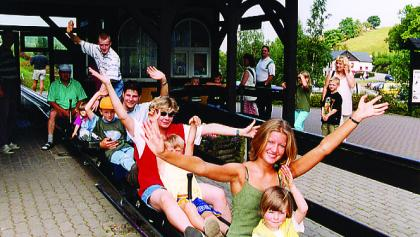 Auffahrt Sommerrodelbahn Seiffen
