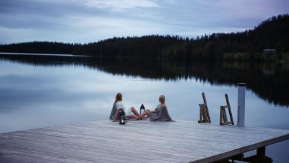 Sauna -Finnish way of relaxing by a lake