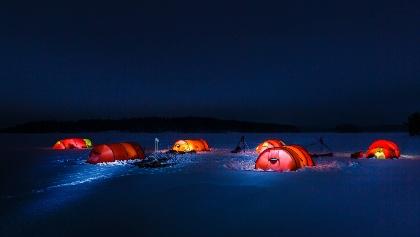 Saimaa winter camping