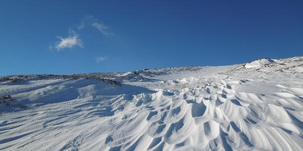 Schneelandschaft auf der Saualpe