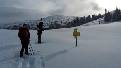 Markanter Wegweiser an der Ebenwaldhöhe, Donnerstag, 28. Dezember 2017 10:51:22
