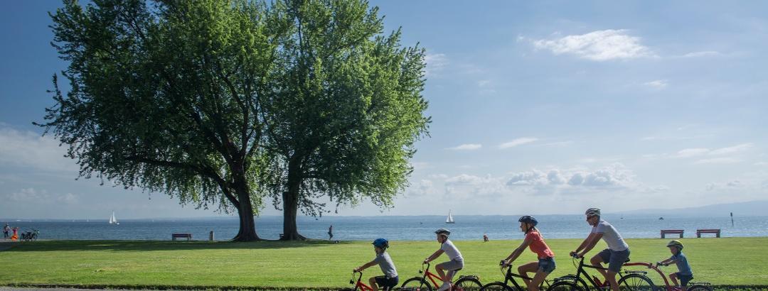 Die Rheinroute ist wegen der flachen Topographie für Familien besoners gut geeignet.