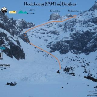 Übersichtsbild Birgkar am Hochkönig - Topo