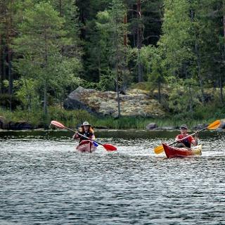 Kayaking in Haukisaari route, Southern Konnevesi National Park