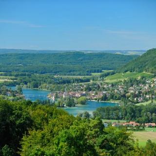 Der Rundwanderweg Klingenzell-Hochwacht ist kurz, aber sehr aussichtsreich.