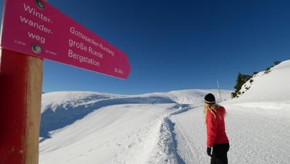 Winterwanderweg auf dem Gottesackerplateau