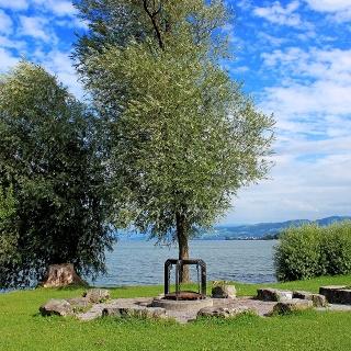 Wohl eine der schönsten Feuerstellen befindet sich bei der Luxburg in Egnach, direkt am See.