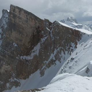 Beide Seekofel aus dem Ostgratanstieg zur Senneser Karspitze