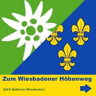 Symbol für Zugang zum Wiesbadener Höhenweg