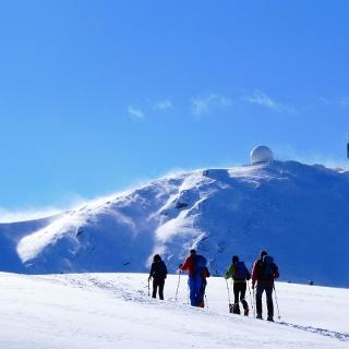 Marsch auf den Gipfel