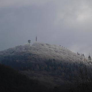 Der verschneite Melibokus