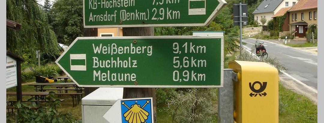 Wegweiser auf dem Ökumenischen Pilgerweg